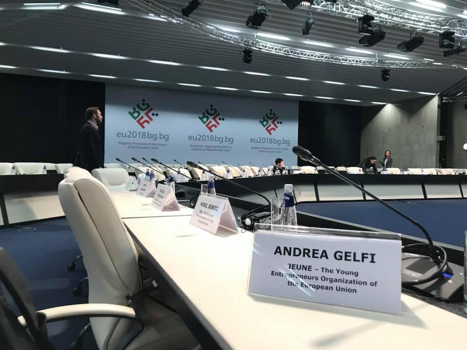 President Andrea Gelfi speaking @ \